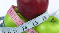 Apple and Measurement Diet Fit Life Concept Stock Footage