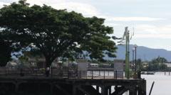 Kuching Waterfront Solar Energy, Malaysia Stock Footage