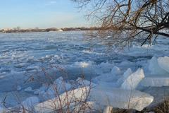 Detroit River Spring Thaw - stock photo