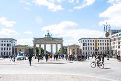 Brandenburg Gate at Pariser Platz in Berlin Stock Photos
