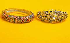 Ornamental decorated braclets Stock Photos