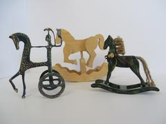 Stock Photo of Three hobby horse decorations