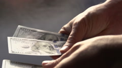 Manual Recount of Money Stock Footage
