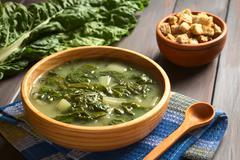 Chard Soup - stock photo