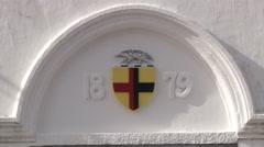 Sarawak coat arms Stock Footage