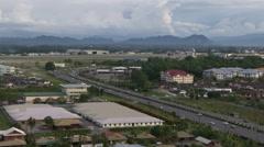 Traffic in Kuching, Malaysia Stock Footage