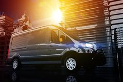 Cargo Van Delivery. Shipping Concept Illustration - stock illustration