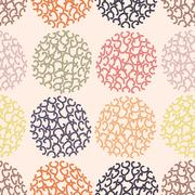Seamless pattern polka dot doodle texture can be used for wallpaper - stock illustration