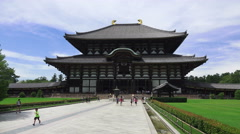 Walkway To The Todai-ji Temple In Nara Japan Stock Footage