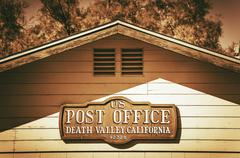 Post Office in Death Valley - stock photo