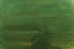 Rivets and Metal Background Dark Green Painted. Stock Photos