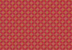 Medieval Royal Pattern Background. Burgundy with Golden Ornaments Pattern Stock Illustration