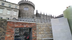 Garda Memorial Garden in Dublin Castle Stock Footage