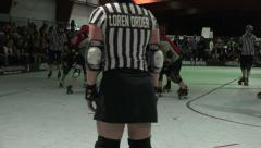 Roller Derby Referee Stock Footage