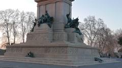 Monument to Garibaldi. Sunset. Piazza Garibaldi, Rome, Italy Stock Footage