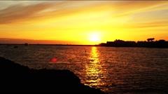 Marina Del Rey Sunset Stock Footage