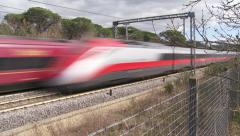 Italian High speed trains 5 Stock Footage