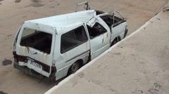 Squeezed minibus- Stock Footage
