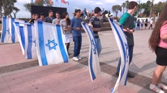 Israel youth flag dance - stock footage