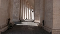 Colonnade. St. Peter's Basilica. Rome, Italy. 1280x720 Stock Footage