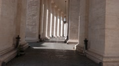 Colonnade. St. Peter's Basilica. Rome, Italy Stock Footage