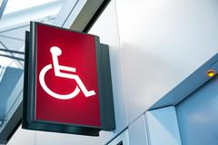 Stock Photo of Wheelchair Signage