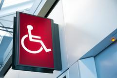 Wheelchair Signage Stock Photos