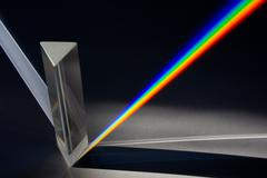 Prism - Spectrum of Sunlight Stock Photos