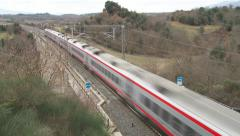 Italian High speed train 3 Stock Footage
