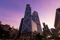 Hong Kong Corporate Buildings Stock Photos