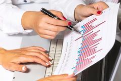 Business graphs. Stock Photos