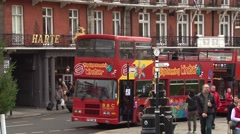 Red busses in Windsor Stock Footage