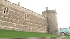 Windsor Castle and town centre Stock Footage