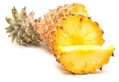 ripe pineapple - stock photo