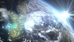 Sunrise Europe Seen From Space - stock footage
