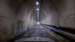 Time lapse of driving from the bunker road tunnel Golden Gate Bridge Stock Footage