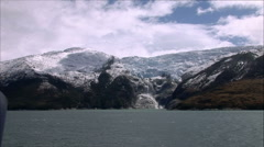 Melting Glacier in Beagle Channel, Patagonia, Chile Stock Footage
