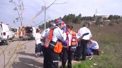 Himalayan earthquake,Himalaya rescue paramedic team Stock Footage