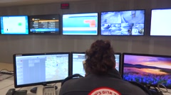 Command and control center Stock Footage