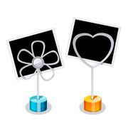 Photo Holder with two Photos Stock Illustration