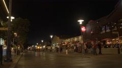 Jefferson Street at night in San Francisco Stock Footage