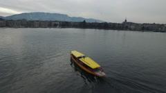 Lac et bateau Genève Stock Footage