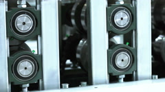 Rolling mill rolls Stock Footage