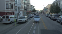 Cable car route in San Francisco Stock Footage