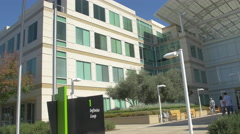 One Infinite Loop at the Apple Campus, Cupertino Stock Footage