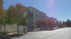 Apple Campus in a sunny afternoon in Cupertino Stock Footage