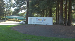 The Googleplex welcome sign Stock Footage