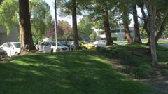 Charleston Park near Googleplex in Mountain View Stock Footage