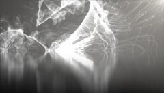 Particle splashes abstract motion background Stock Footage