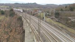 Italian High speed train 2 Stock Footage